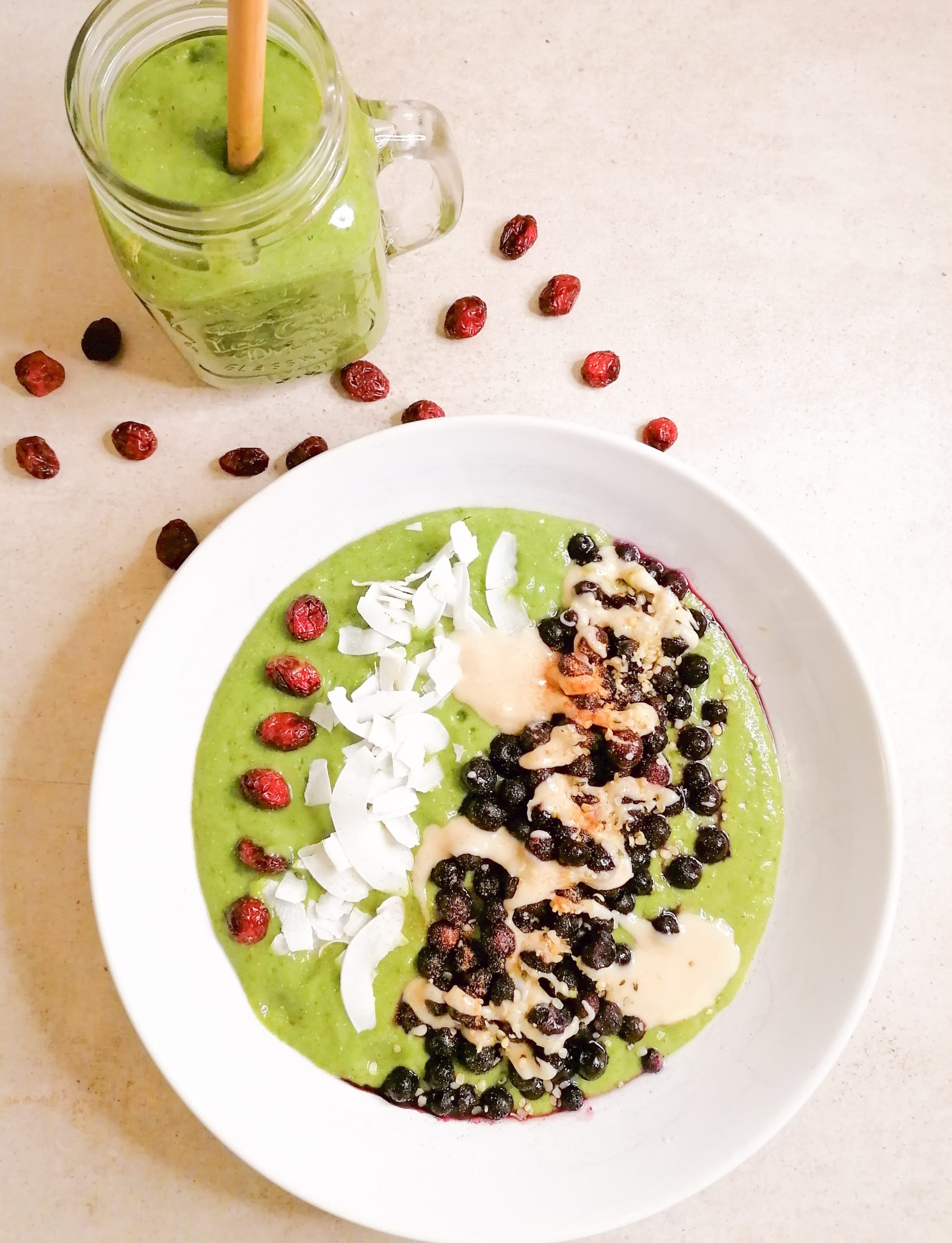 Green Power Smoothie- Bowl