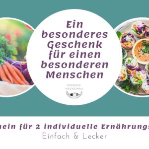 Gutschein für 2 individuelle Ernährungspläne