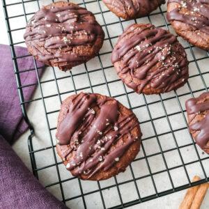 Schnelle Kichererbsen Lebkuchen Cookies