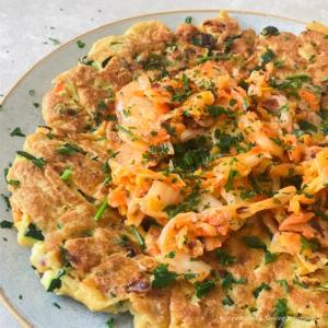 Veganes Gemüse Omelette