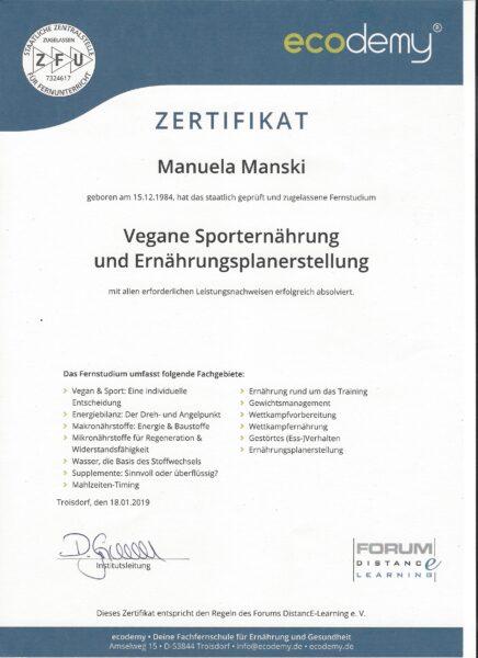 Ecodemy Zertifikat