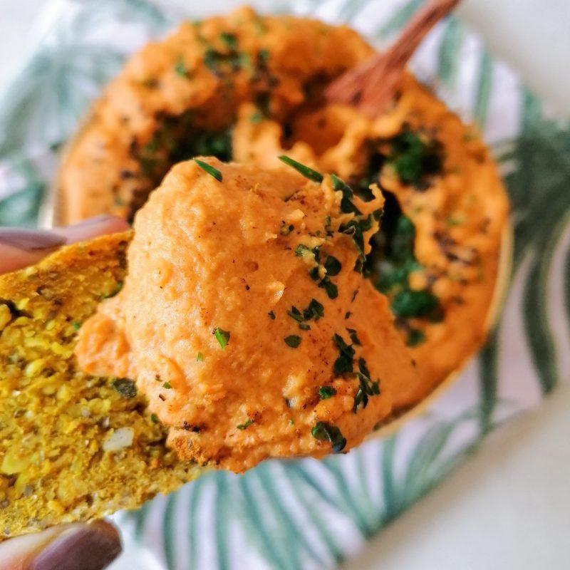 Orientalischer Süßkartoffel- Karotten Hummus