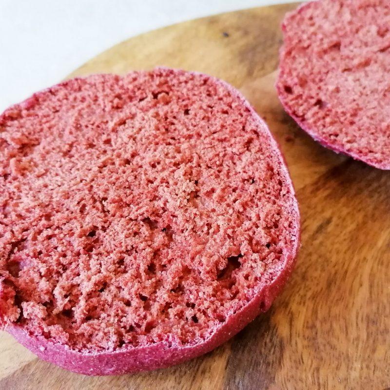 Pinke Vollkorn- Burger Brötchen